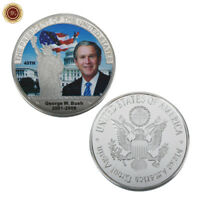 WR George W. Bush 43th US America President Silver Coin Medal Collectibles Gifts