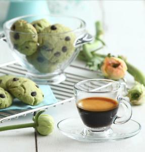 Lav   Espressoservice 12tlg   Espressotassen  incl Untertassen   Glas Design