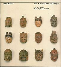 SOTHEBY'S FINE JAPANESE NETSUKE INRO LACQUER Auction Catalog 1982