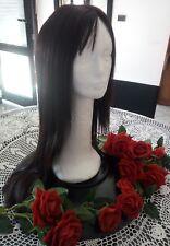 Wig 100% Human Hair Brown Black Natural Long Straight Ladies Silky 24 inches