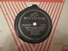 ELVIS PRESLEY HARD HEADED WOMAN  RCA  78 RPM