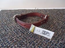 """Bully """" NWT """" Leather 16"""" Dog Collar """" GREAT LEATHER COLLAR """""""