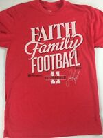 Faith Family Football T-Shirt Mens Small Arizona Cardinals Larry Fitzgerald NFL