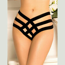 Cage Bandage Black Brief Thong Undies Women's One size fits AU 8-10