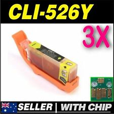 3x Yellow Ink for CANON CLI-526Y for iP4850 iP4950 iX6550 MG5150 MG5250 MG5350