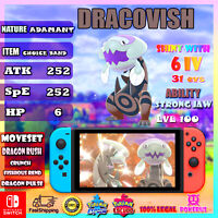 Dracovish 6ivs competitivo Ultra Shiny or not Pokémon Sword and Shield