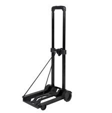 Portable Mini Folding Luggage Cart Black