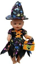 Halloween Baby Doll Clothes Cute Witch Dress Doll Accessories Children Gifts