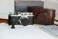 Rare Zorki-1 Vintage EXPORT Soviet Copy Leica Film Camera w/s lens industar-22