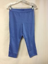 NWOT Women's No Nonsense Chino Capri Leggings Size Small Marine Blue #1045P