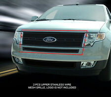 07-10 Ford Edge Black Stainless Wire Mesh Grille Grill Combo Insert Fedar