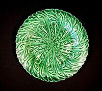 Beautiful Green Majolica Salad Plate