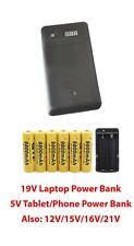 Laptop Notebook 19V 3.3A Power Bank 5V 2.1A phone tablet External Battery