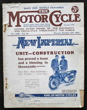 MOTOR CYCLE MAGAZINE 13 SEPT 1934 - THE NEW IMPERIAL TWIN TO BE MARKED