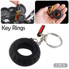 Motorcycle Tyre Keychain Key Chain Tire Keyring Key Ring Motorbike Keyfob Rubber