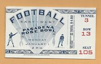 1945 Rose Bowl football ticket stub USC Trojans v Tennessee Volunteers clean