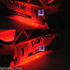 RC 1/10 CAR TRUCK BUGGY chassis body RED COLOR LED TUBE strip LIGHT COOL LOOK