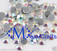 1440pcs Blue Light Crystal AB 2.8mm ss10 Glass Flat Back DMC Hotfix Rhinestones