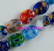 120pcs Millefiori Glass Nice Oval Spacer Beads 8x10mm P20
