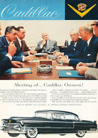 1955 Cadillac black Sedan - Classic Car Advertisement Print Ad J111