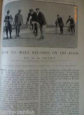 ROAD RACING Bicicletta Ciclismo Olley Periodo edoardiano VECCHIO ANTICO foto dell'articolo 1905