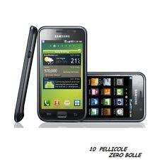 10 Pellicola per Samsung I9000 Galaxy S Protettiva Pellicole SCHERMO DISPLAY LCD