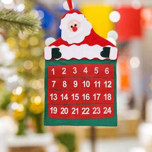 Christmas Advent Calendar Tree Hanging Xmas Pocket Countdown Display DecoraDEAU