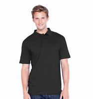 Black Men's Jersey Polo Shirt 100% Cotton