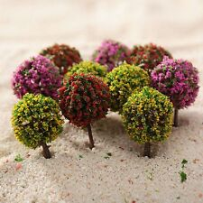 30 Mix Color Flower Ball Trees Model Train Garden Park Road Layout Scenery 1:100