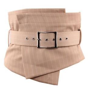 Plaid Striped Wrap Around Women Extra Wide Corset Waist Belt Retro Cummerbunds