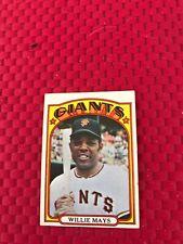 Willie Mays 1972 Topps Card # 49 HOF San Fransico Giants