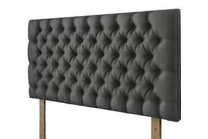 """Cheap Luxury Plush Velvet Upholstered 26"""" Height Wall or Bed Mount Headboard"""