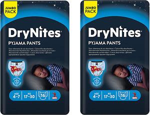 2 x Huggies - DryNites, mutandine pannolini taglia: 4-7anni