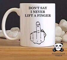 "personalised,Rude, novelty ""Finger"" mug birthday, christmas, secret santa gift"