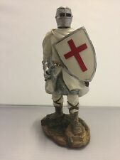 NEW KNIGHT WITH AXE SHIELD RESIN MEDIEIVAL FIGUREINE BOXED