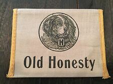 Vintage OLD HONESTY Plug Tobacco Pouch  Rich Mellow Chew Dog Graphics VG