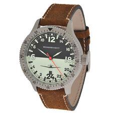 Messerschmitt Quarz Fliegeruhr ME-108DR24 LB Nigth & Day Aristo Pilotenuhr 24h
