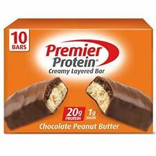 Premier Protein 20g Protein Bar Chocolate Peanut Butter, 2.08 Oz, (10Count)