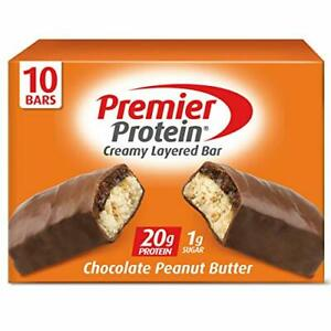Premier Protein 20g Protein Bar Chocolate Peanut Butter, 2.08 Oz, (10Count)
