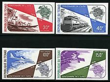 Space Raumfahrt 1974 Tschad Chad UPU Post Eisenbahn Train 704-707 B Imperf/1278