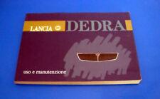 Lancia Dedra 1.6 ie, 1.8 ie, 2.0 ie e 2.0 TD Libretto Uso e Manutenzione 1990