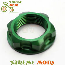 CNC Billet Green Steering Stem Nut Bolt For Kawasaki KX125 250 250F 450F KLX450R