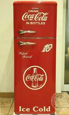Retro Kühlschrank Gefrierkombination Rot Coca Cola K2B DTR 353 A++ Neue Griffe