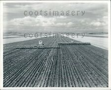 Wheat Farmers With 56 Furrow Drill Implements Great Falls MT Press Photo