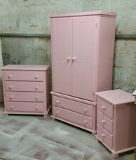 HANDMADE ARIZONA 3 PIECE BEDROOM SET (PINK) NOT FLAT-PACK!!