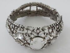 Stunning Multi-Crystal Embellished JUICY COUTURE Silver Bangle