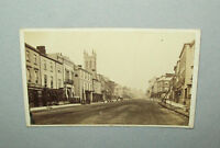 Old antique vtg 1860s View of the Town of Bridport United Kingdom CDV Photo Nice