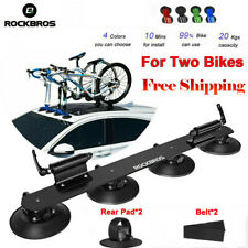 ROCKBROS Bike Suction Roof-top 2 Bikes Rack Carrier Quick Installation Roof Rack