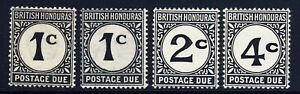 BRITISH HONDURAS 1933-64 POSTAGE DUES Set SG D1 to SG D3a MINT