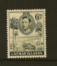 CAYMAN ISLANDS :1938 6d olive-green perf 11 1/2 x 13 SG122 mint